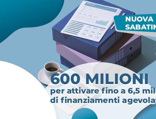 Nuova Sabatini, 600 milioni per attivare fino a 6,5 miliardi di finanziamenti agevolati