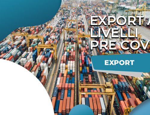 L'export torna ai livelli pre Covid: 482 miliardi di euro a fine 2021